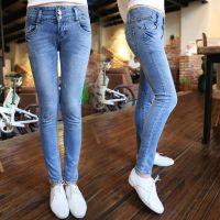 阿里巴巴分销 服装网店代理代销 免费代理一件发货 修身牛仔裤