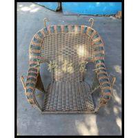 热销茶餐厅藤艺单人摇椅铁艺座椅庭院摇摇椅特色西餐厅休闲椅子