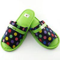 韩国进口拖鞋圆点花卉室内拖鞋 韩式家居拖鞋 韩国原装进口日用品