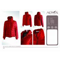 艾迪雅兰仕羽绒服供应女士高档羽绒服,adyl红色羽绒服保暖时尚