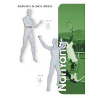 供应男款网球模特 打网球姿势模特道具