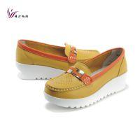 新款 韩版拼色 厚底松糕鞋 舒适浅口防滑橡胶底 四季单鞋女单鞋