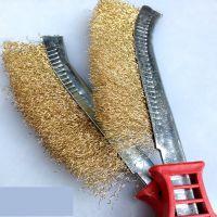 刀刷 钢丝刷 镀铜钢丝刀刷 除锈刷 表面清洁刷 刀型清锈刷