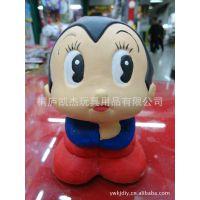 日本卡通陶瓷彩绘 儿童手工DIY批发 陶瓷白呸装饰品 陶瓷储蓄罐