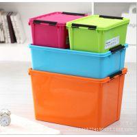 塑料整理箱 带盖杂物收纳箱 零食收纳盒 玩具收纳盒