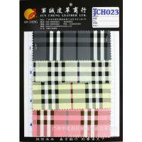 格子錢包箱包格仔合成革 PVC人造革JCH023皮革錢包箱包鞋材PVC