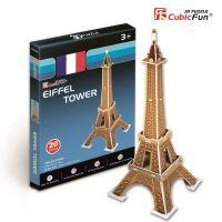 3D立体建筑模型乐立方立体拼图 益智玩具迷你-埃菲尔铁塔S3006