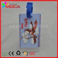 厂家定做硬PVC行李吊牌 塑料透明行李吊牌 航空软胶行李吊牌