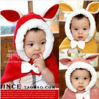 店探小兔子披肩帽  韩国兔兔儿童披肩帽 优质毛绒宝宝披肩斗篷M15
