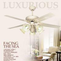 臻奇 客厅吊灯欧式餐厅装饰风扇灯 田园浪漫45寸铁叶吊扇灯具灯饰