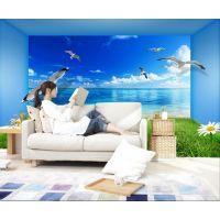 供应3D海景唯美空间客厅电视背景墙