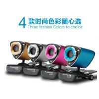 供应谷客HD10 高清电脑摄像头带麦克风笔记本台式usb免驱QQ视频夜视屏