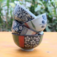 【现货供应】日式手绘釉下彩陶瓷碗 礼品套装