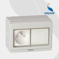 如假包换 透明保护罩开关插座 明装墙壁浴室热水器防水开关插座