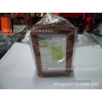 供应PU皮卡套 双面透明证件卡套 工作证套 胸牌卡套 竖方向棕色