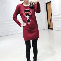 2014新款秋装女装韩版时尚潮款t恤女款上衣中长款长袖打底衫