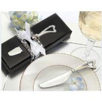 W401结婚婚庆用品批发 婚礼回礼奶油刀 不锈钢心形手柄黄油刀