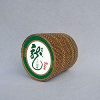 巨匠厂家定制绿色高档日韩式环保竹帘茶叶筒 竹编圆形茶叶罐