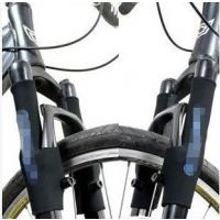 前叉保护套 山地车公路自行车前闸刹车套 单车前叉贴一对价 28g