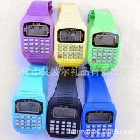 校园货源批发 塑胶计算机表 电子计算器表 运动手表