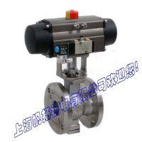 供应ZSHR-16P(ZSHO-16P) DN50mm不锈钢气动O型切断球阀