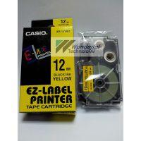 供应卡西欧标签机色带XR-12YW1 (12mm黄色)