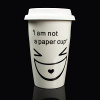 供应杯子 双层陶瓷杯子 我不是纸杯子 创意热销星巴克杯子