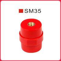 供应SM35 M8 仿进口绝缘柱 红色绝缘子 纺锤形 配电箱使用铜件