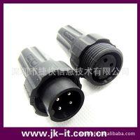 深圳捷快INST品牌M22防水连接器4芯组装式/面板式IP68防水接头