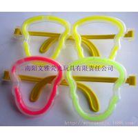 厂家批发 骷髅发光眼镜荧光眼镜(不含荧光棒)热销玩具