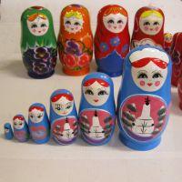 俄罗斯套娃 6层套娃 实木手绘 做工精细 礼品 地区特色工艺品