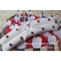 纯手工绣花布艺衣架可爱卡通大红甲虫儿童宝宝衣挂童装拍摄道具