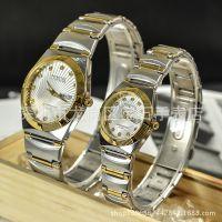 正品DINUO谛诺双日历星期手表 商务男士不锈钢防水表批发5391