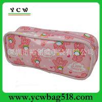 深圳箱包工厂 PVC化妆包 卡通化妆包 可爱波点手拿包 防水洗漱包
