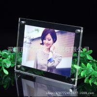 透明亚克力桌面相片夹 影楼写真夹 有机玻璃透明相框画框