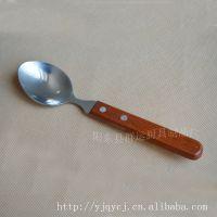 厂家直销群运牌西餐用具 花梨木柄汤匙 木柄汤羹 木柄勺 西餐汤勺