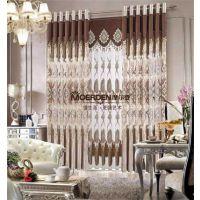 摩尔登奢华欧式客厅/卧室遮光窗帘布艺品牌 加厚雪尼尔定做