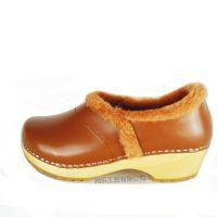 厂家直销2015新款森林系真皮纯色女式棉鞋保暖妈妈孕妇老人木底鞋