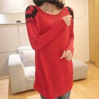 2014秋季新款大码女装针织衫 复古打底衫宽松韩版毛衣女式外套