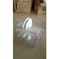 供应双层304不锈钢碗碟架沥水碗架砧板架厨房置物架批发加工服务