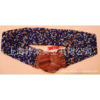 [厂家直销]手工串珠腰带 珠绣腰带 珠编饰品 编织腰饰 珠织腰带