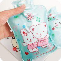 卡通珠光热水袋 珠光PVC注水暖手宝 加水印花大中小号暖水袋 68g