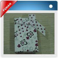 【优质】杭州赋涵包装厂供应蝴蝶结方形饰品包装盒 精品包装纸盒