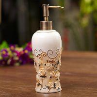 卫生间浴室用品高温陶瓷浴室洁具卫浴5件套黄金水绘制七彩玫瑰