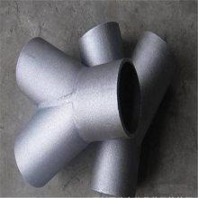 DN50*5MM单筋加强焊制三通|给水泵入进口滤网标准|河北沟槽管接头的用途