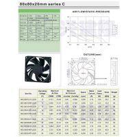 深圳散热风扇代理 台湾永立8020C系列 来福轴承低噪音 DC12V/24V 直流风扇