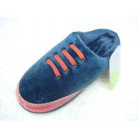 胜利拓时尚新款 包跟保暖男士拖鞋 拼色棉拖 加厚棉拖鞋 家居拖鞋