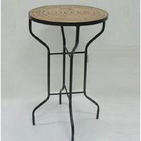 LOFT工业风美式法式乡村复古仿旧铁木酒吧台 咖啡桌 吧桌圆桌餐桌