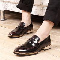供应2014新款韩版夏款男式低帮英伦复古韩版男士帆船漆皮鞋潮款皮鞋
