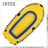 原装正品 INTEX挑战者68367两人充气船 加厚皮筏艇 漂流船 冲气船